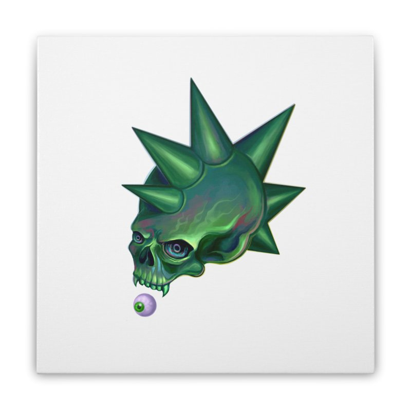 Skull Mask n2 Home Stretched Canvas by shaoart's Artist Shop
