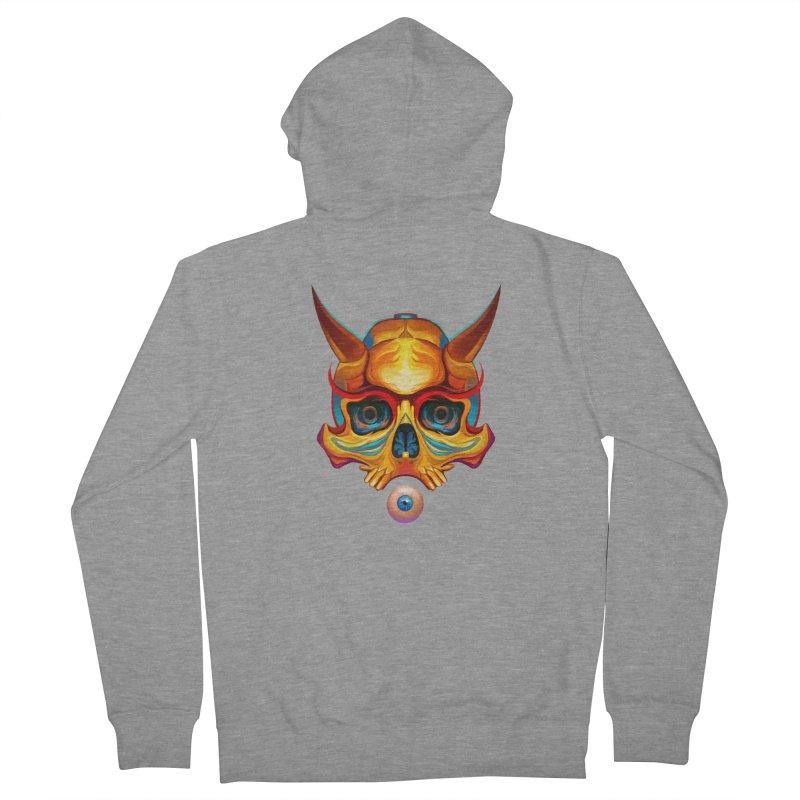 Skull Mask n3 Men's Zip-Up Hoody by shaoart's Artist Shop
