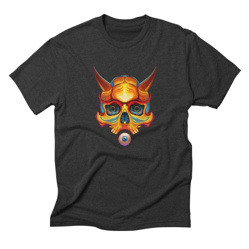 Skull Mask n3 Men's Triblend T-Shirt by shaoart's Artist Shop