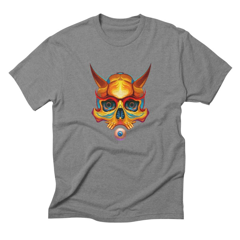 Skull Mask n3 Men's Triblend T-Shirt by shaoart's Artist Shop