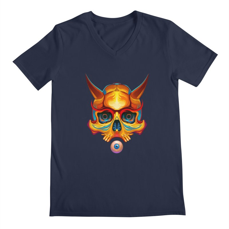 Skull Mask n3 Men's V-Neck by shaoart's Artist Shop