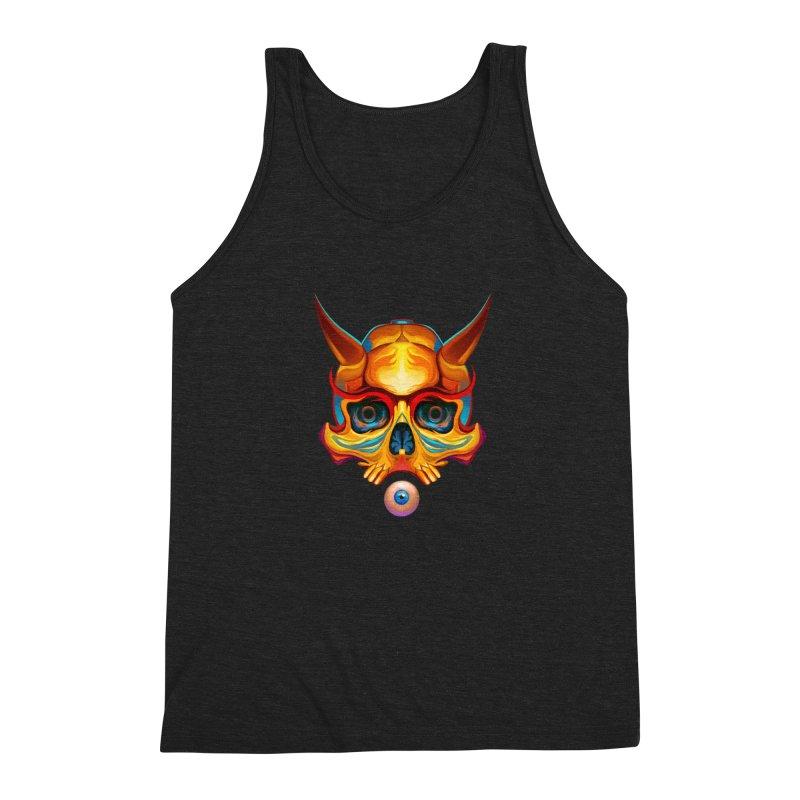 Skull Mask n3 Men's Triblend Tank by shaoart's Artist Shop