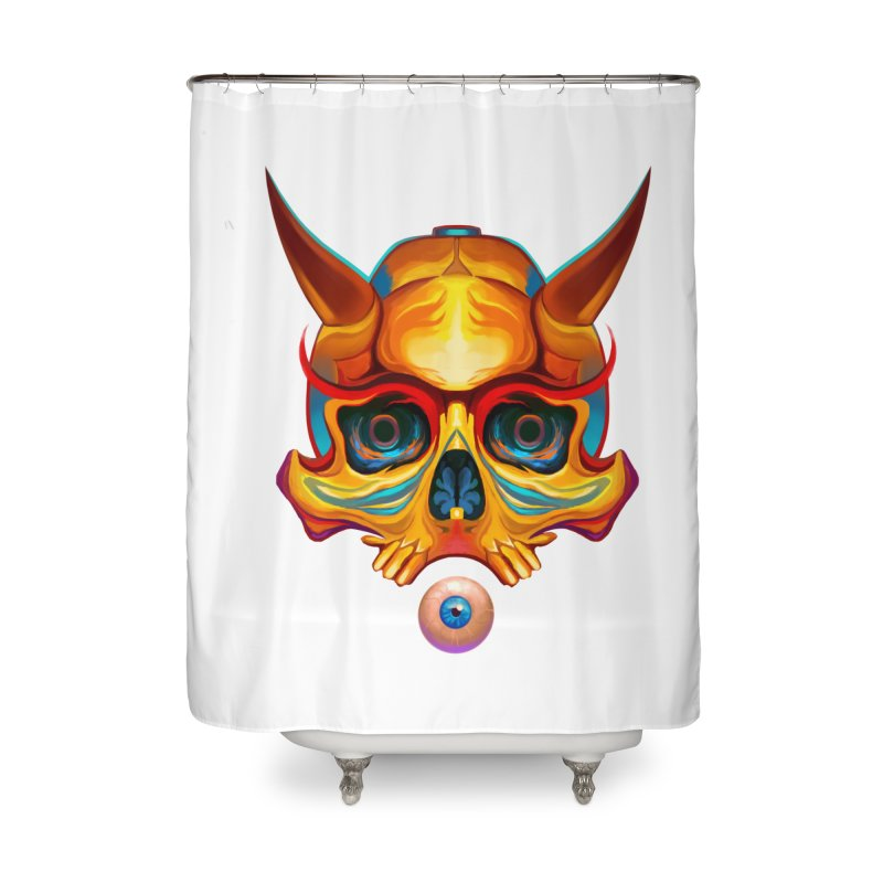 Skull Mask n3 Home Shower Curtain by shaoart's Artist Shop