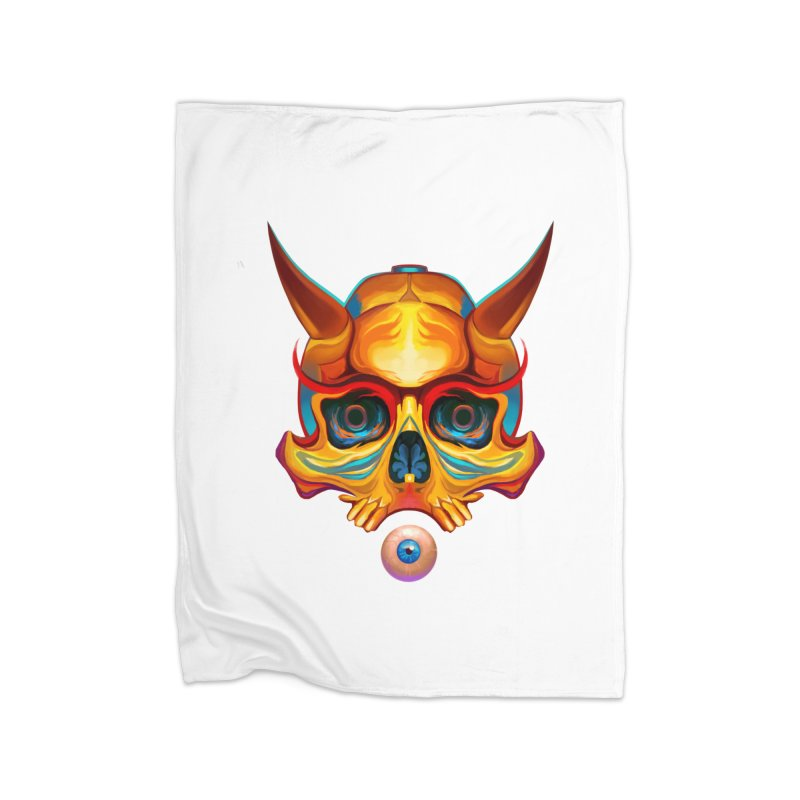 Skull Mask n3 Home Blanket by shaoart's Artist Shop