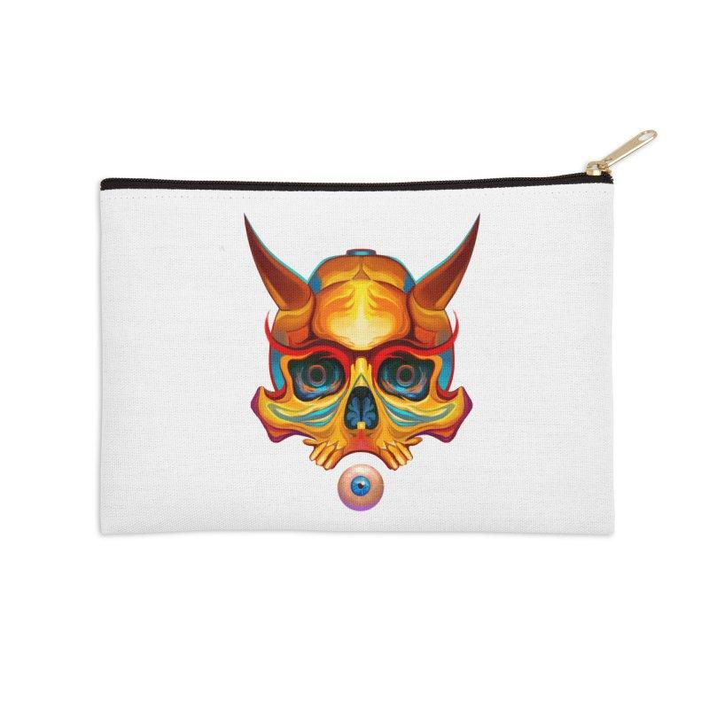Skull Mask n3 Accessories Zip Pouch by shaoart's Artist Shop