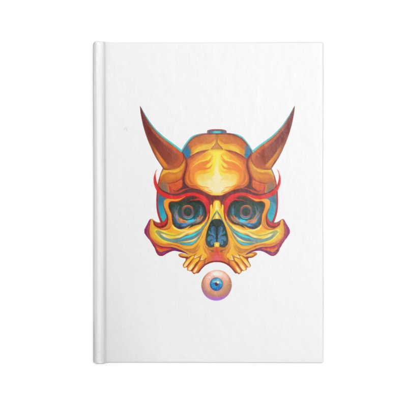 Skull Mask n3 Accessories Notebook by shaoart's Artist Shop