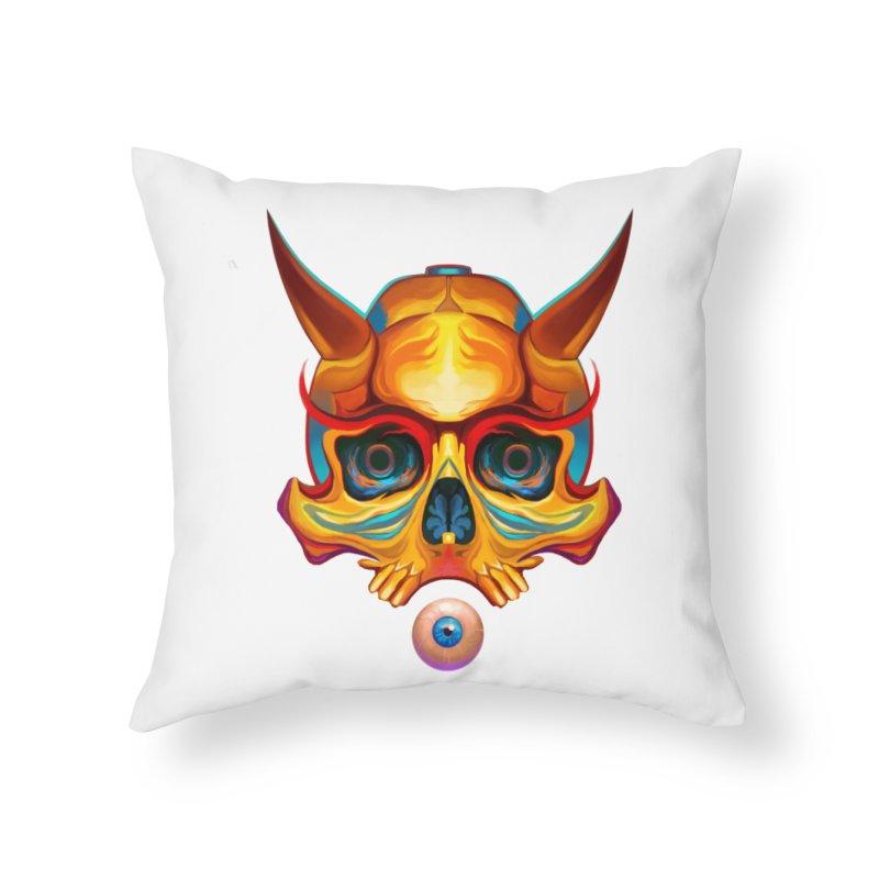 Skull Mask n3 Home Throw Pillow by shaoart's Artist Shop