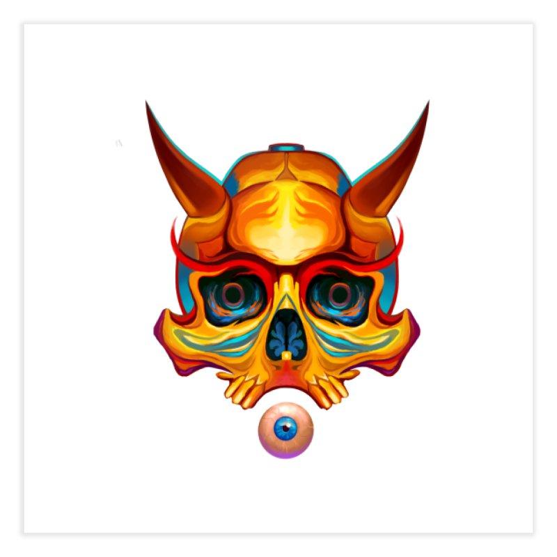 Skull Mask n3 Home Fine Art Print by shaoart's Artist Shop