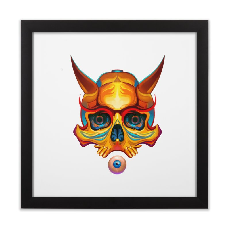 Skull Mask n3 Home Framed Fine Art Print by shaoart's Artist Shop