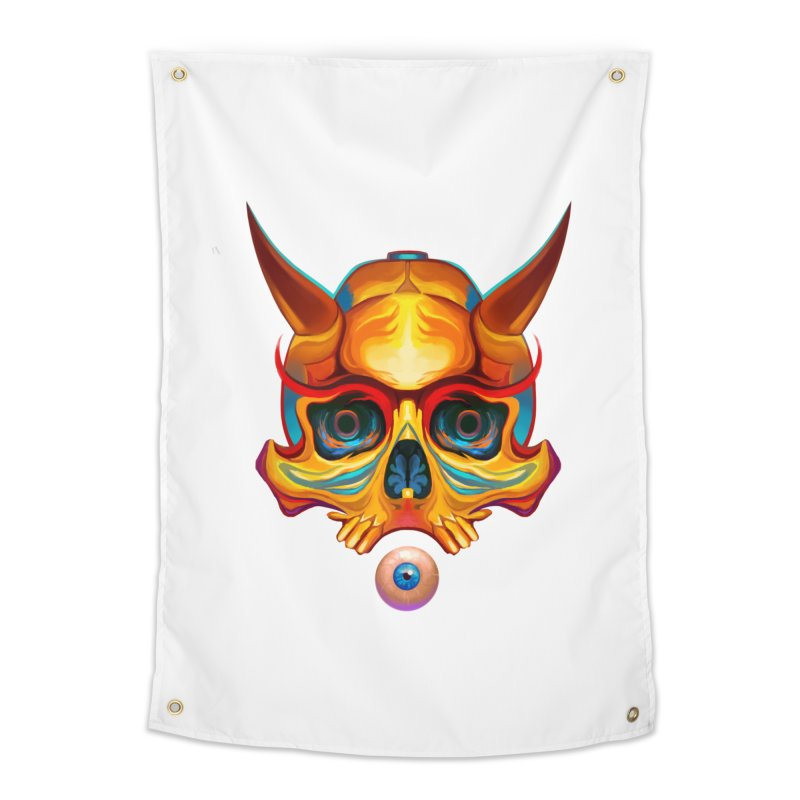 Skull Mask n3 Home Tapestry by shaoart's Artist Shop