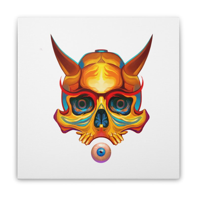 Skull Mask n3 Home Stretched Canvas by shaoart's Artist Shop
