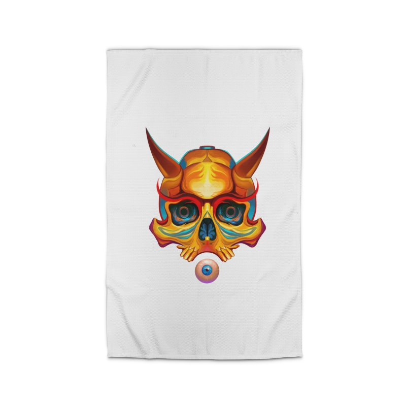 Skull Mask n3 Home Rug by shaoart's Artist Shop