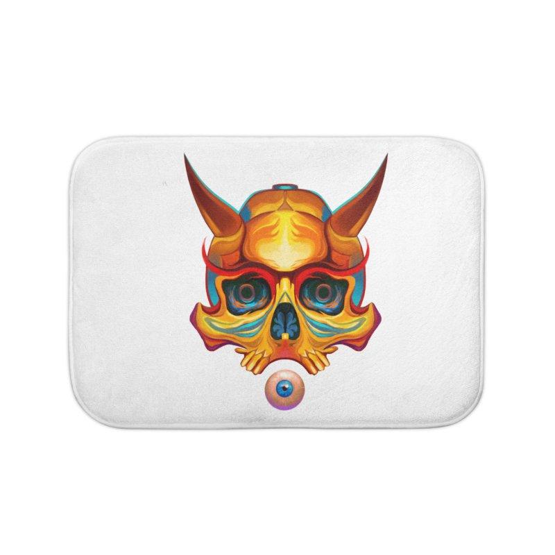 Skull Mask n3 Home Bath Mat by shaoart's Artist Shop