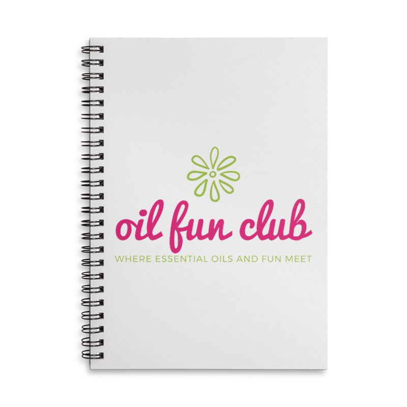 Oil Fun Club Accessories Lined Spiral Notebook by Sharon Marta Essentials Shop