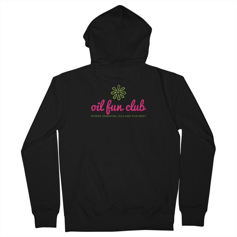 Oil Fun Club Women's French Terry Zip-Up Hoody by Sharon Marta Essentials Shop