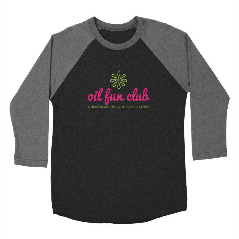 Oil Fun Club Women's Baseball Triblend Longsleeve T-Shirt by Sharon Marta Essentials Shop