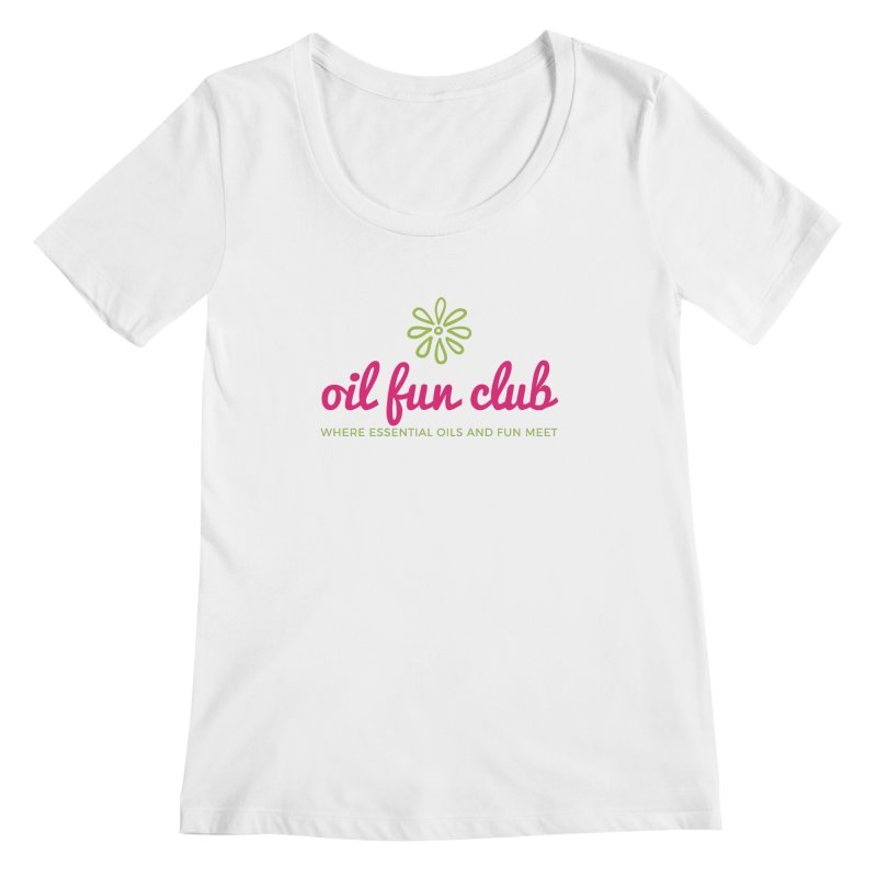 Oil Fun Club Women's Regular Scoop Neck by Sharon Marta Essentials Shop