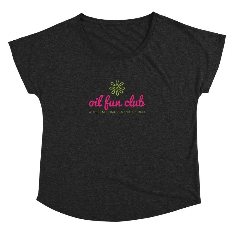 Oil Fun Club Women's Dolman Scoop Neck by Sharon Marta Essentials Shop