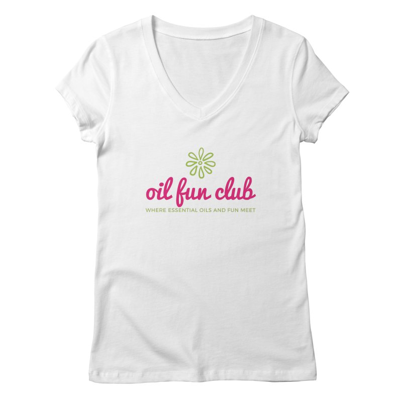 Oil Fun Club Women's Regular V-Neck by Sharon Marta Essentials Shop