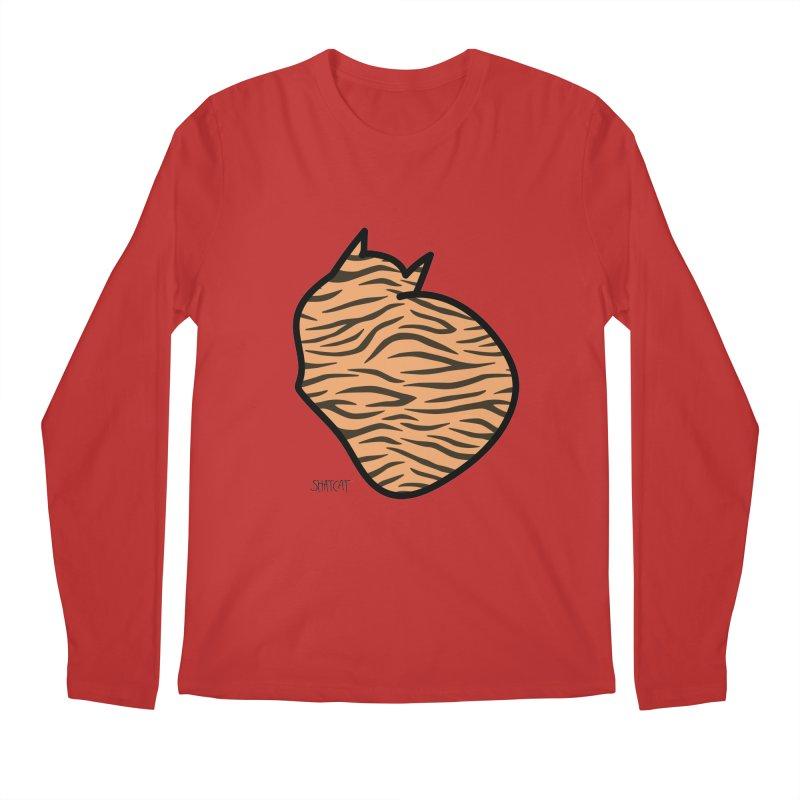 Tiger Kitty Men's Longsleeve T-Shirt by ShatCat