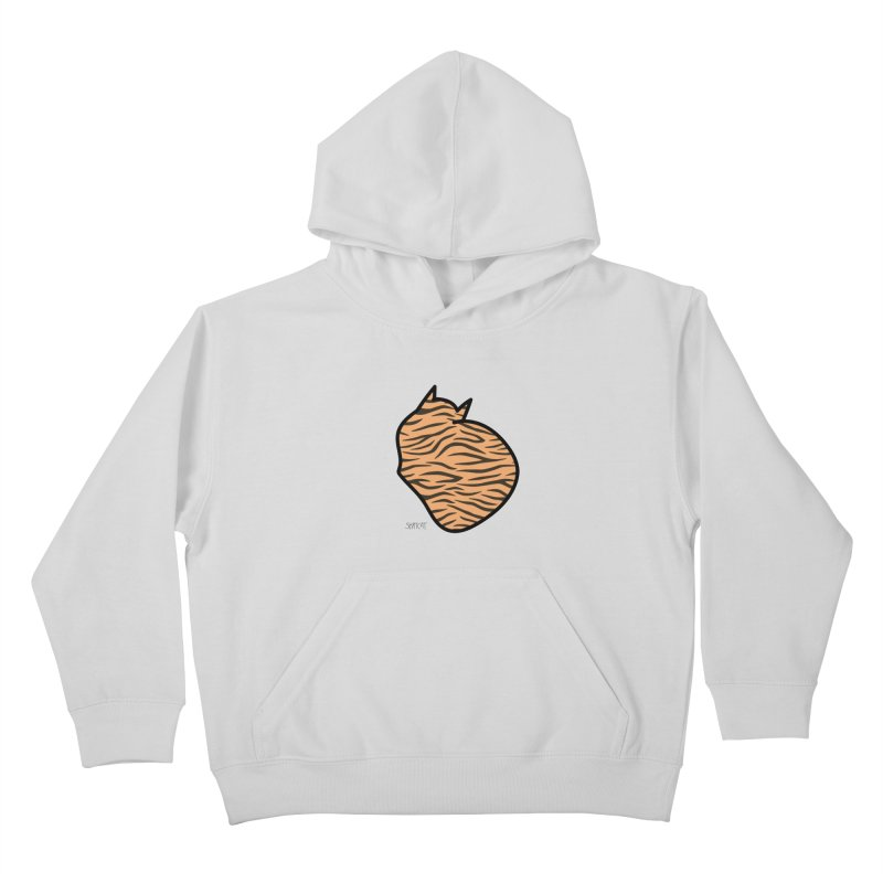 Tiger Kitty Kids Pullover Hoody by ShatCat
