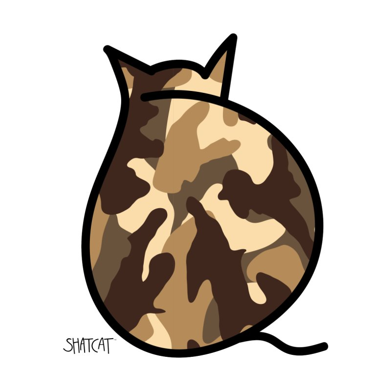 Camo Kitty #2 by ShatCat