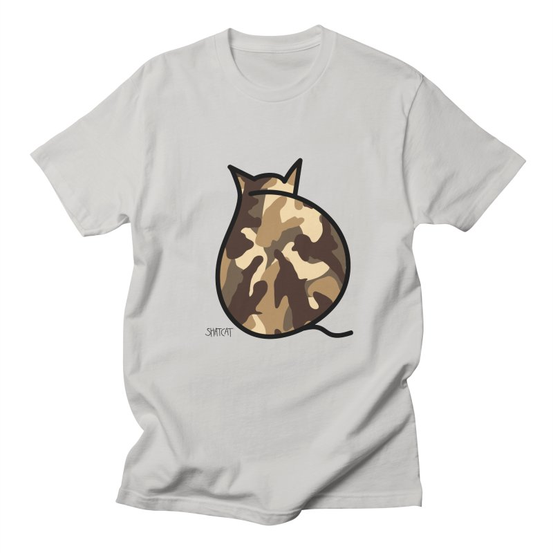 Camo Kitty #2 Men's T-Shirt by ShatCat
