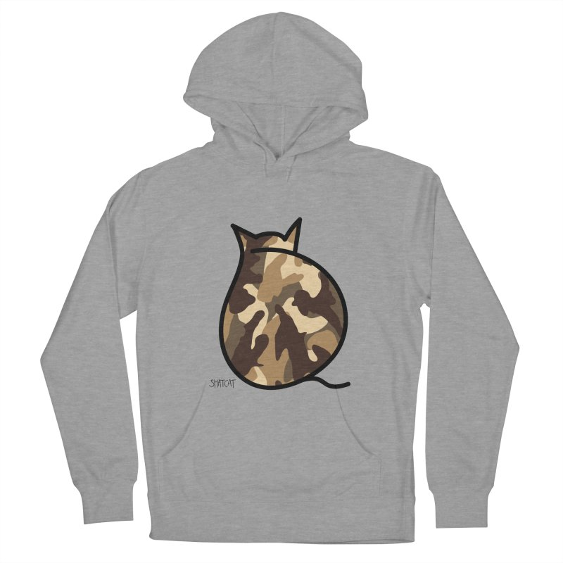 Camo Kitty #2 Women's French Terry Pullover Hoody by ShatCat