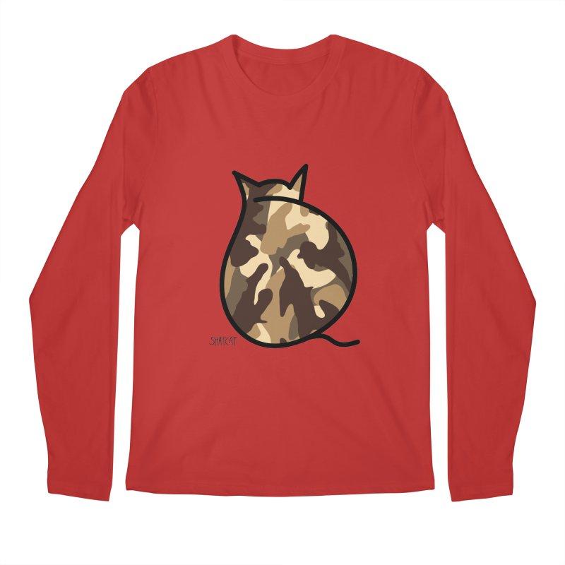 Camo Kitty #2 Men's Longsleeve T-Shirt by ShatCat