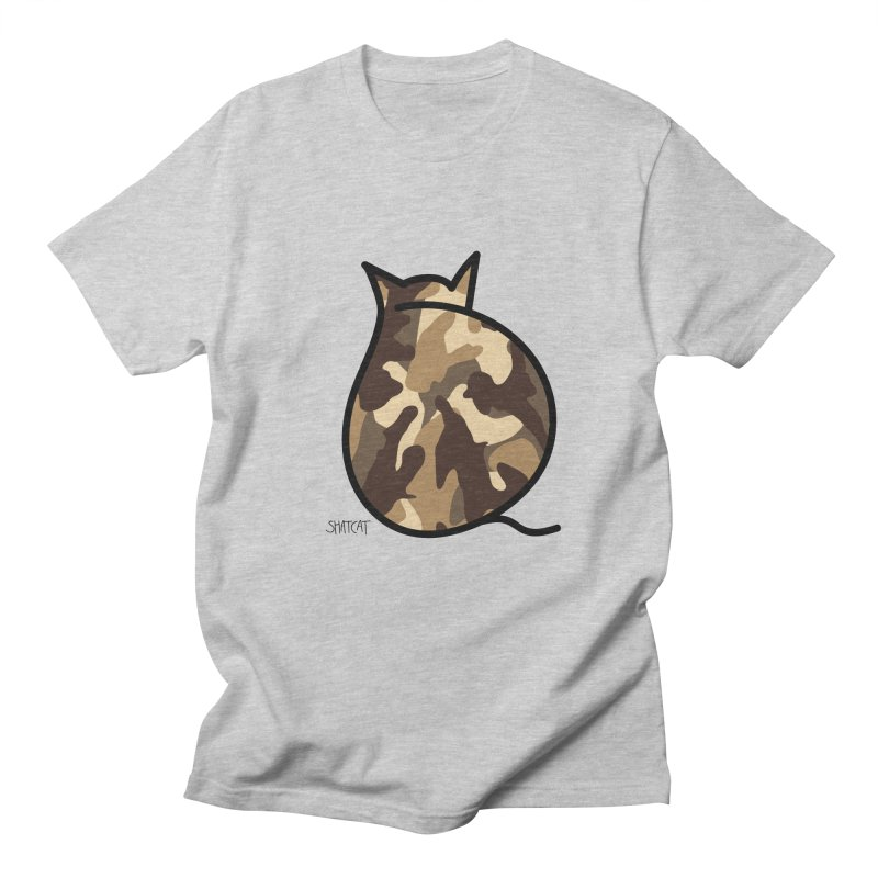 Camo Kitty #2 Men's Regular T-Shirt by ShatCat