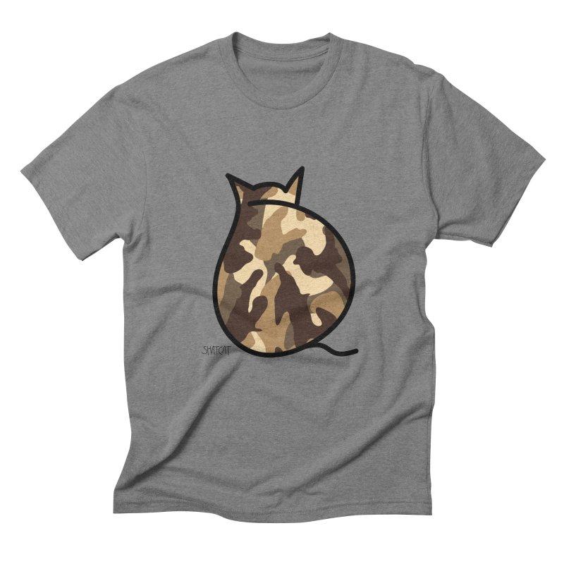 Camo Kitty #2 Men's Triblend T-Shirt by ShatCat