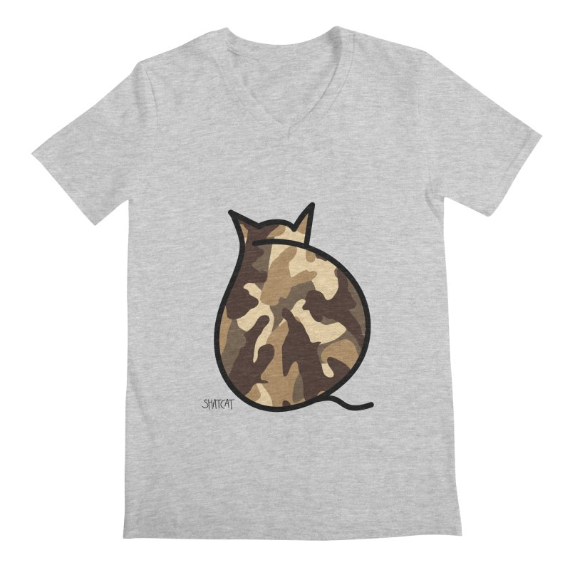 Camo Kitty #2 Men's Regular V-Neck by ShatCat