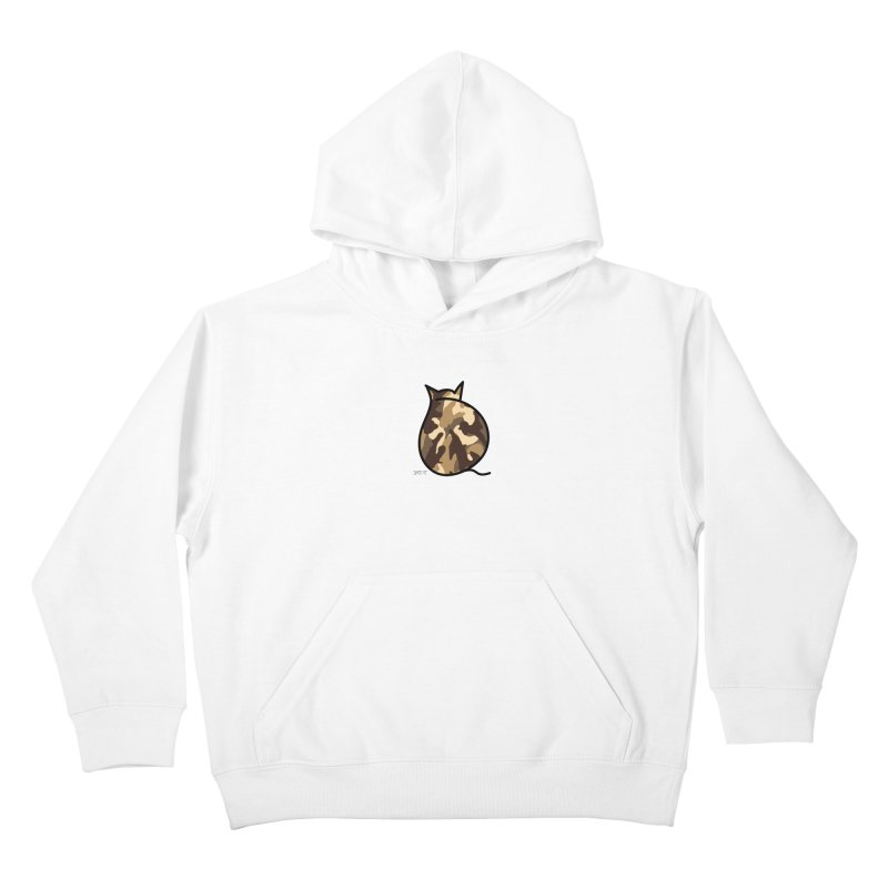 Camo Kitty #2 Kids Pullover Hoody by ShatCat