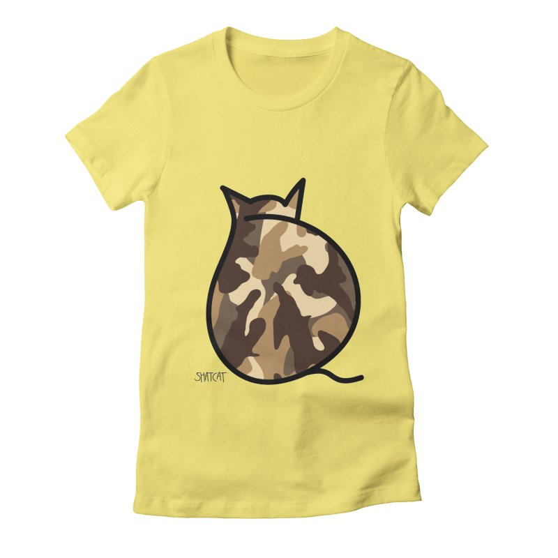 Camo Kitty #2 Women's Fitted T-Shirt by ShatCat