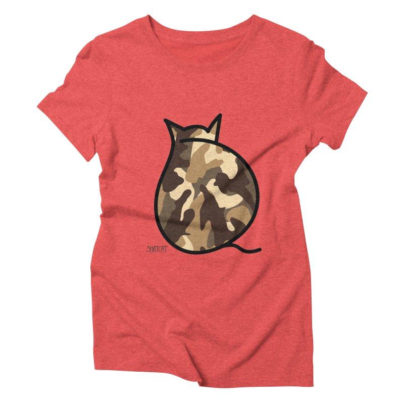 Camo Kitty #2 Women's Triblend T-Shirt by ShatCat
