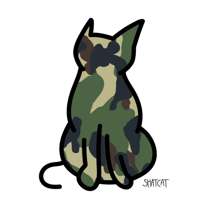 Camo Kitty #1 by ShatCat
