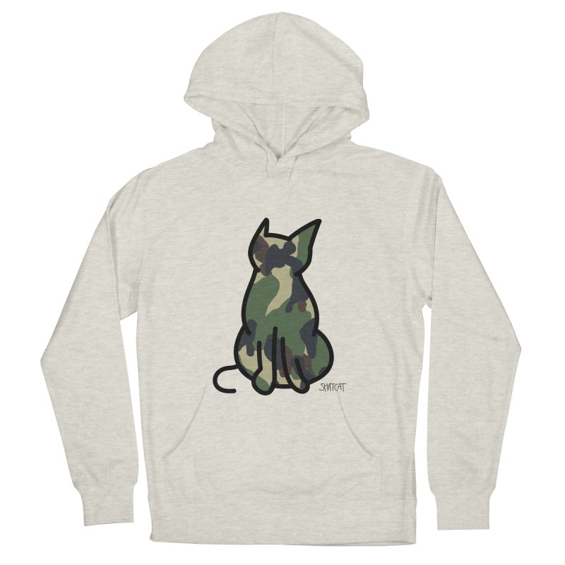 Camo Kitty #1 Women's French Terry Pullover Hoody by ShatCat