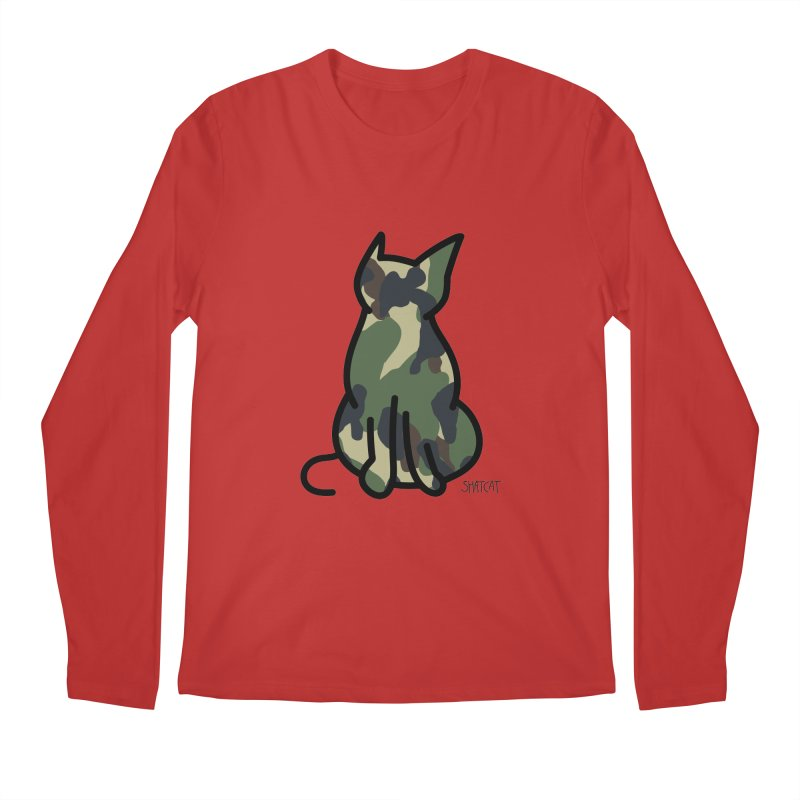 Camo Kitty #1 Men's Longsleeve T-Shirt by ShatCat