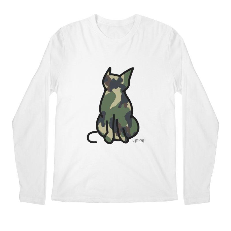 Camo Kitty #1 Men's Regular Longsleeve T-Shirt by ShatCat