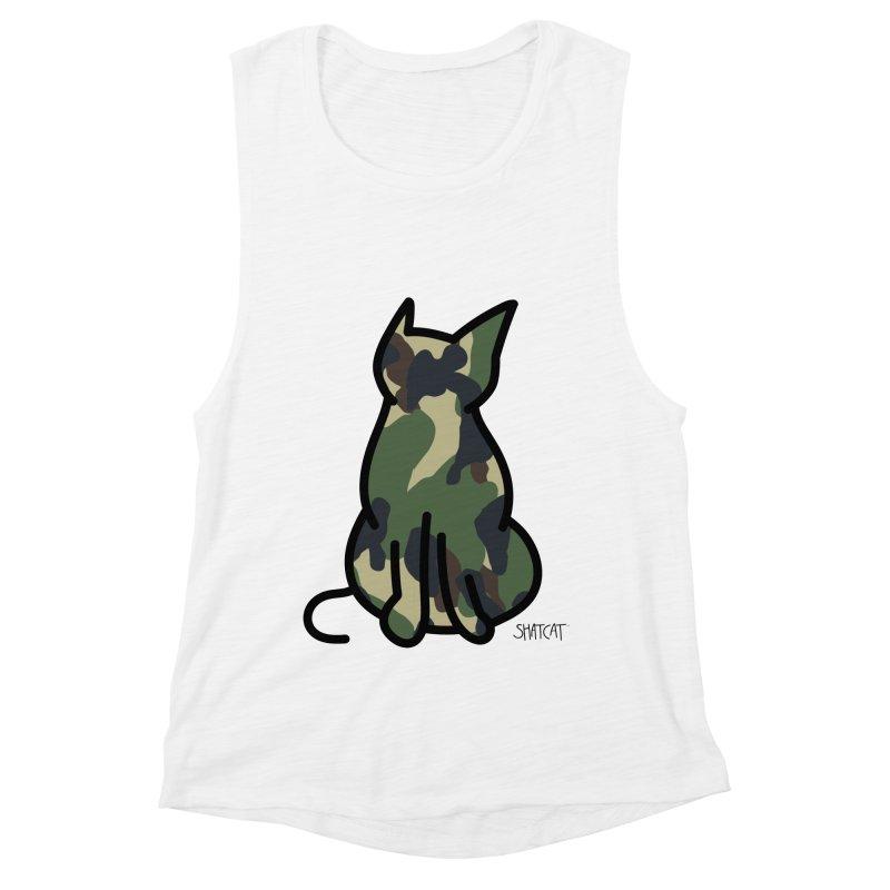 Camo Kitty #1 Women's Muscle Tank by ShatCat