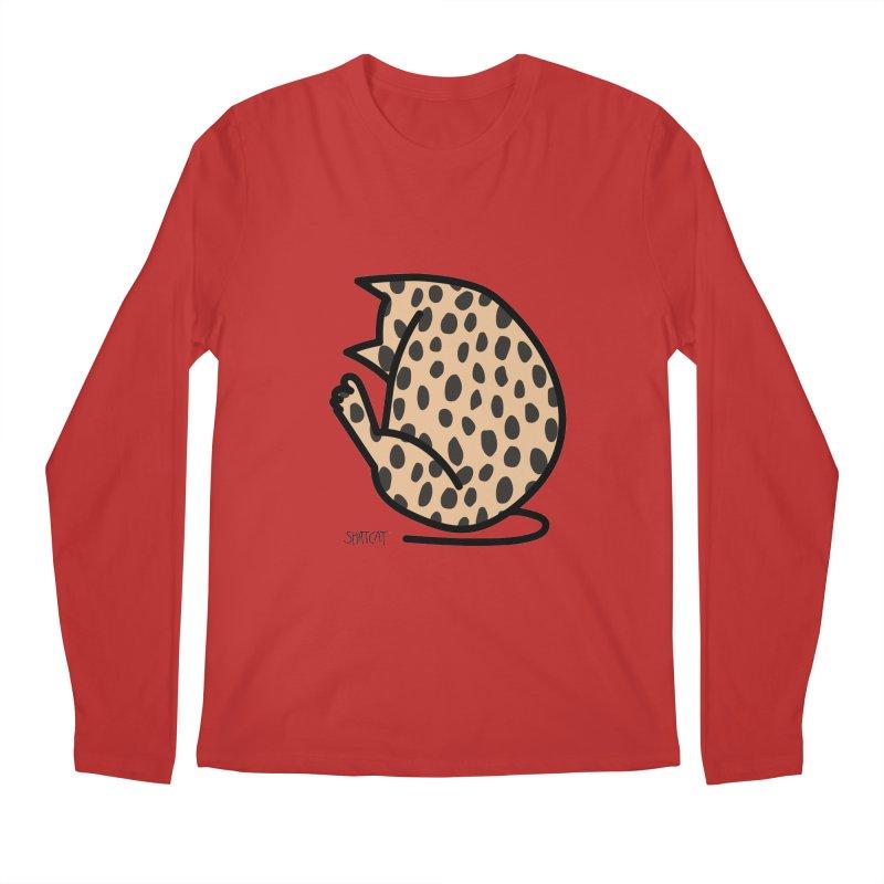 Cheetah Kitty Men's Longsleeve T-Shirt by ShatCat