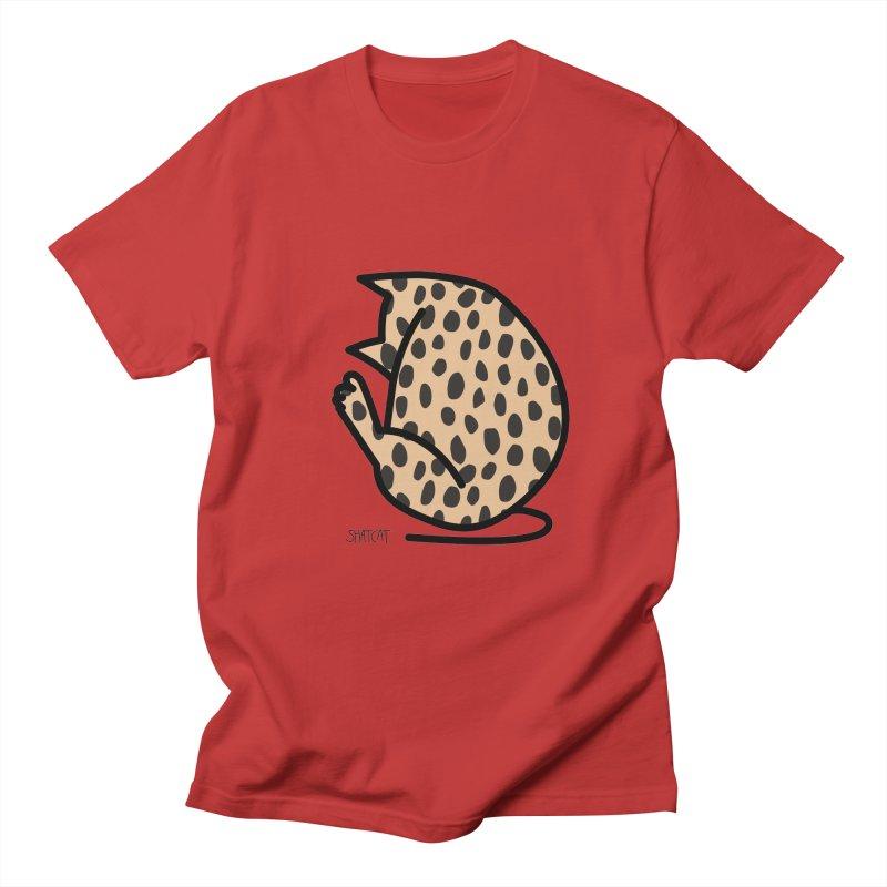Cheetah Kitty Men's Regular T-Shirt by ShatCat