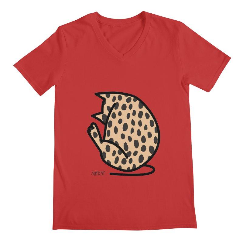 Cheetah Kitty Men's Regular V-Neck by ShatCat
