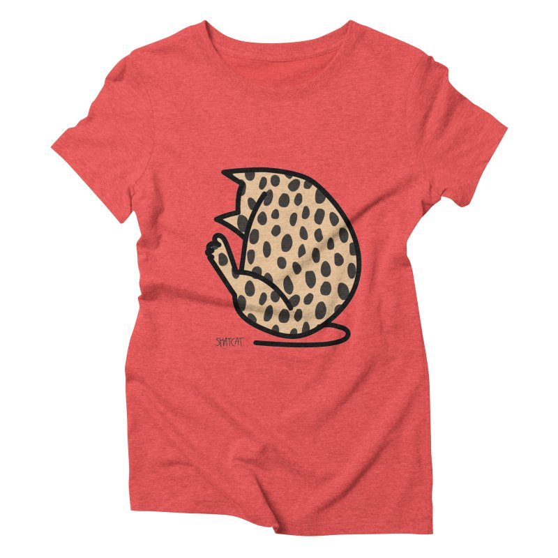 Cheetah Kitty Women's Triblend T-Shirt by ShatCat