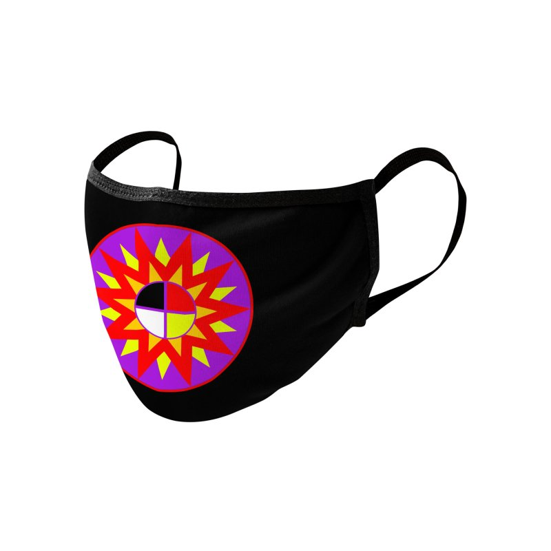 Sacred Burst - Mask Accessories Face Mask by Shawnee Rising Studios