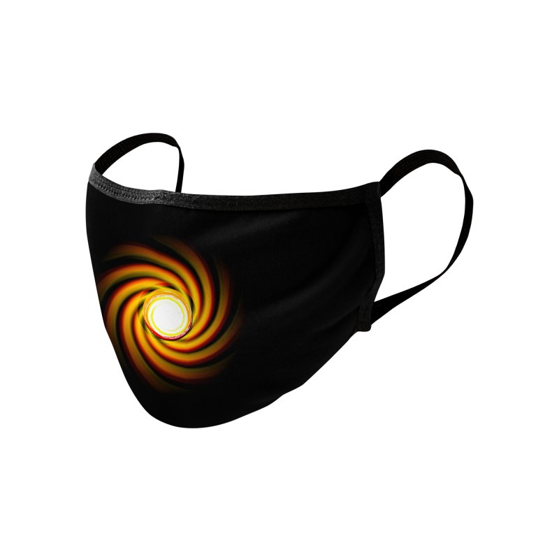 Fire Swirl - Mask Accessories Face Mask by Shawnee Rising Studios