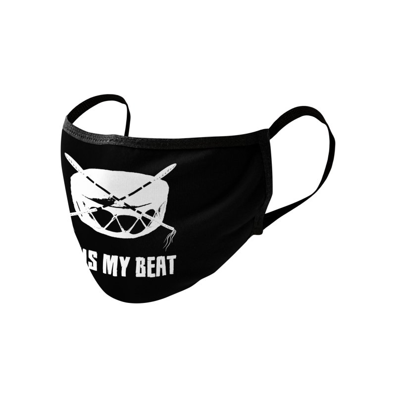 This My Beat (White) - Mask Accessories Face Mask by Shawnee Rising Studios