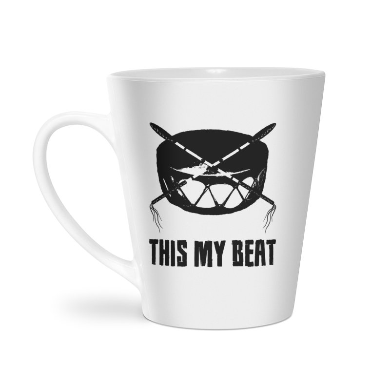 This My Beat #2 Accessories Latte Mug by Shawnee Rising Studios