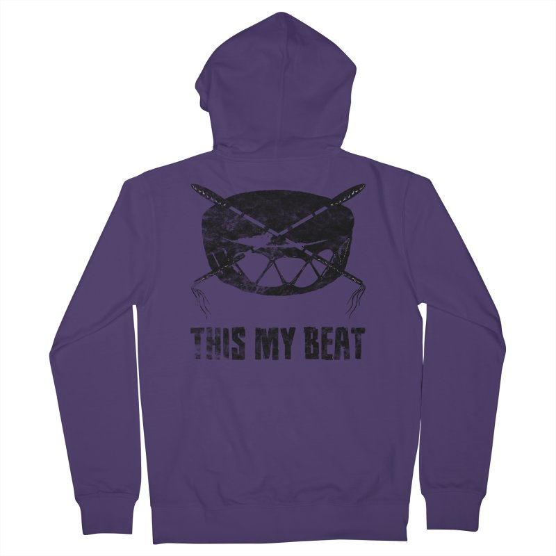 This My Beat #2 Women's French Terry Zip-Up Hoody by Shawnee Rising Studios