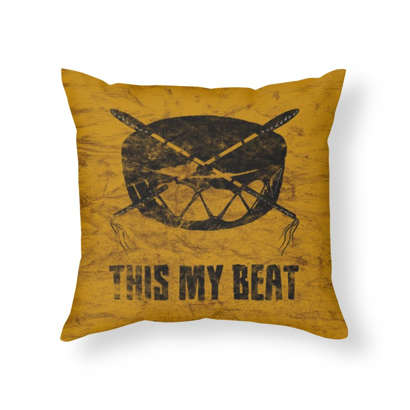 This My Beat #2 Home Throw Pillow by Shawnee Rising Studios